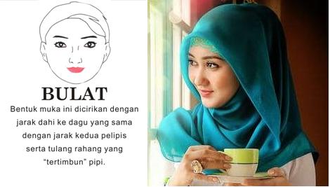 Jilbab untuk wajah bulat gemuk tembem