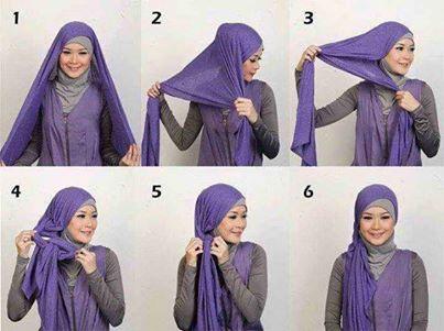 tutorial hijab simple, tutorial hijab modern