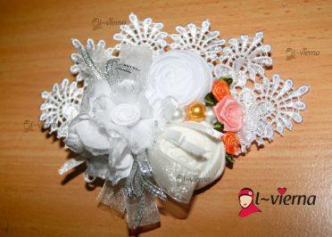 Bros cantik dari kain perca, bros putih, bros jilbab terbaru, bros cantik terbaru 081326212750