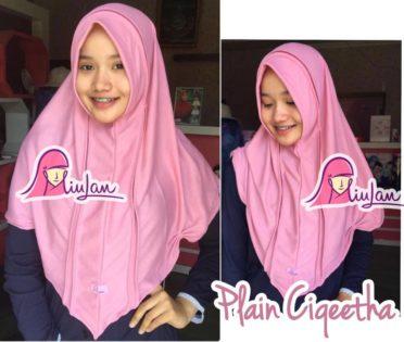 bergo instan plain ciqieta dusty pink modern murah terbaru casual polos, grosir jilbab bergo murah
