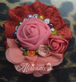 bros cantik lucyta red handmade modern terbaru murah cantik
