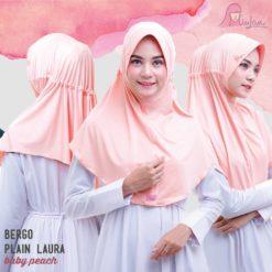 BPL Miulan Bergo Plain Laura Serut Jokowi Baby Peach 0813-2621-2750