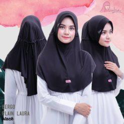 BPL Miulan Bergo Plain Laura Serut Jokowi Black 0813-2621-2750