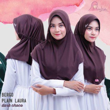 BPL Miulan Bergo Plain Laura Serut Jokowi Dark Choco 0813-2621-2750