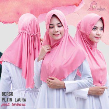 BPL Miulan Bergo Plain Laura Serut Jokowi Pink Terbaru 0813-2621-2750