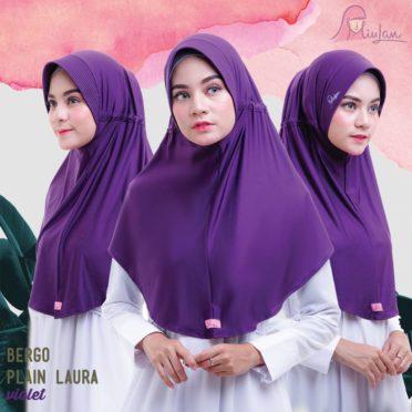 BPL Miulan Bergo Plain Laura Serut Jokowi Violet 0813-2621-2750
